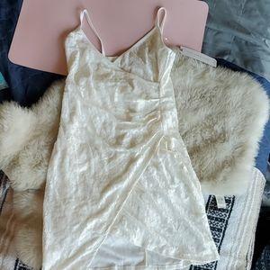NWT Almost Famous Lace Faux Wrap Mini Dress
